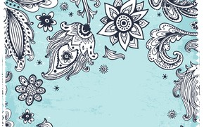Picture white, flowers, background, blue, pattern, black, texture