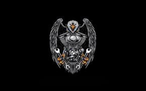 Picture Minimalism, Key, Bird, Style, Eagle, Background, Motor, Engine, Art, Art, Style, Background, Keys, Minimalism, Eagle, …