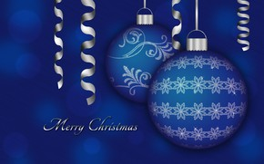 Picture balls, holiday, vector, Christmas, postcard