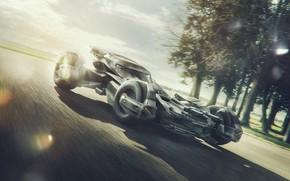 Picture trees, design, transport, car, The Batmobile