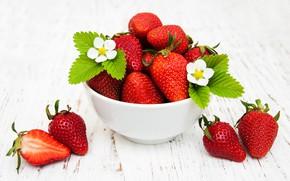 Picture berries, bowl, strawberry, Olena Rudo