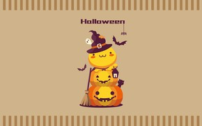 Picture cat, Halloween, Kawai, crank, Jack