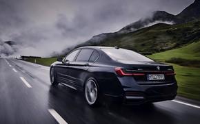 Picture BMW, sedan, wet asphalt, G12, 2020, 7, 7-series, 2019, 745Le xDrive