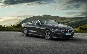 Picture clouds, mountains, BMW, convertible, xDrive, G14, 8-series, 2019, Eight, M850i Convertible