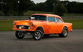 Picture Orange, Car, Race, Chevy, Custom, Modifield