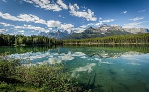 Wallpaper lake, reflection, mountain
