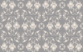 Picture white, style, retro, grey, Pattern, vintage, Baroque