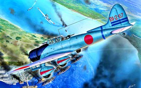 """Picture Japan, Aichi, D3A, Pearl Harbor, WWII, Dive, """"Val''"""