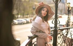 Picture look, girl, pose, hat, handbag, Anastasia Mazzei (Don), Olesya Vladimirovna