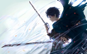 Picture anime, art, Weapons, Shingeki no Kyojin, Eren Yeager, Attack of the titans, The invasion of …
