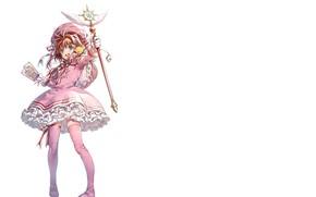 Picture smile, girl, Card Captor Sakura, Sakura - collector cards