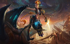 Picture Girl, Girl, Fiction, LoL, Character, League Of Legends, Sci-Fi, Jinx, Odyssey, Character, Game Art
