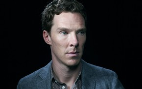 Picture look, portrait, male, jacket, Benedict Cumberbatch
