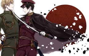 Picture sword, anime, art, guys, Durarara, Durarara!!