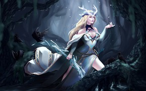 Picture forest, girl, League of Legends