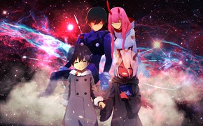 Picture art, two, Darling In The Frankxx, Cute in France