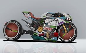 Picture Motorcycle, Ducati, Art, MotoGP, Moto, Transport, Cyber, Motorcycle, Transport & Vehicles, Dmitry Strukov, by Dmitry …