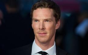 Picture look, smile, background, Benedict Cumberbatch, Benedict Cumberbatch, British actor