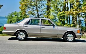 Picture S-Class, W126, Mercedes - Benz, 300SE
