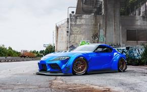 Picture Auto, Blue, Machine, Toyota, Supra, Transport & Vehicles, Javier Oquendo, by Javier Oquendo, Toyota Supra …