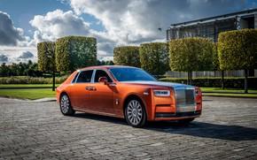 Picture auto, the sky, the sun, Rolls-Royce, Phantom