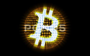 Picture black, figures, black, fon, bitcoin, bitcoin, btc