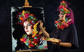 Wallpaper girl, style, portrait