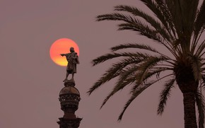 Picture Spain, Barcelona, Columbus monument, Las Ramblas