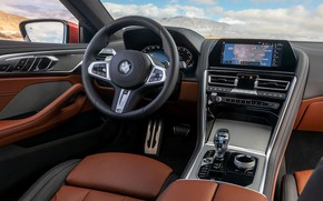 Picture coupe, BMW, 2018, in the cabin, 8-Series, 2019, M850i xDrive, Eight, G15