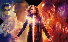 Picture Dark, Action, Olivia Munn, Fire, Flame, X-Men, Storm, Smoke, year, James McAvoy, Ash, Magneto, Michael …