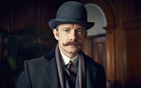 Picture mustache, hat, Sherlock Holmes, Martin Freeman, Sherlock, Sherlock BBC, Sherlock Holmes, John Watson, Ugly bride, …