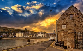 Picture the evening, Scotland, Stonehaven