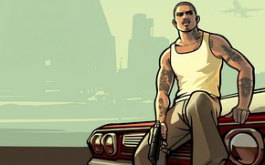 Picture machine, the sky, Mike, guy, Grand Theft Auto: San Andreas