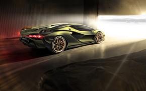 Picture light, Lamborghini, supercar, hybrid, Later