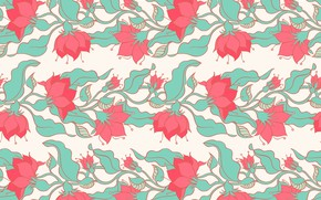 Picture flowers, background, vector, texture, pink