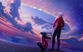 Picture the sky, rod, Rin, Archer, Fate / Stay Night, Fate stay Night