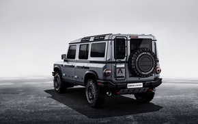 Picture grey, background, SUV, back, prototype, Grenadier, Ineos
