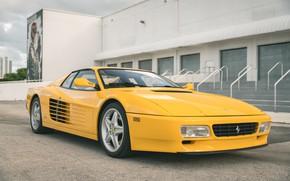 Picture Yellow, Sportcar, 512 TR, Ferrari Testarossa