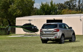 Picture Ford, hangar, back, helicopter, Everest, Limited, 4WD, 2019