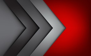 Picture red, grey, corners, red, fon, gray, corners
