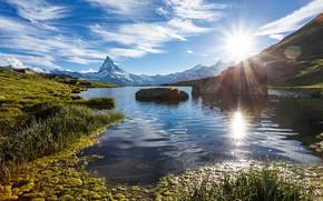 Picture the sun, landscape, day