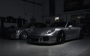 Picture 911, Porsche, BMW, Shadow, E46, Silver