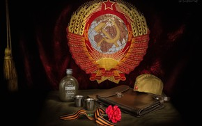 Picture victory day, coat of arms, vodka, Victory, May 9, Faith Kalinkina, frontline hundred grams, Narkomovskih …
