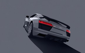 Picture Auto, Machine, Audi R8, Render, Rendering, Supercar, Audi R8 V10, Transport & Vehicles, Lasse Bauer, …