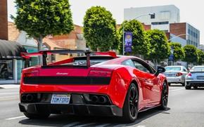 Picture car, red, Lamborghini, Gallardo, California, Super Trophy