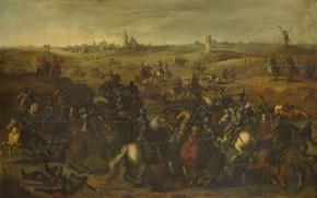 Picture oil, picture, 1650, Sebastian Vranx, Sebastiaan Vrancx, в Фюгтовой пустоши, Сражение между Бреоте и Леккербеетье