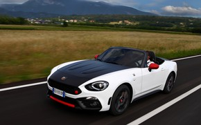Picture field, plain, Roadster, spider, black and white, double, Abarth, 2016, 124 Spider