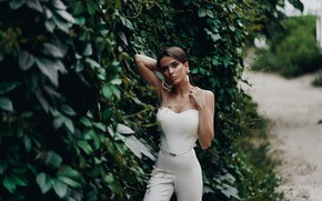 Picture girl, pose, hands, figure, neckline, Alexei Chelnokov