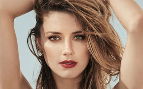 Picture eyes, look, girl, portrait, makeup, beautiful, Amber Heard