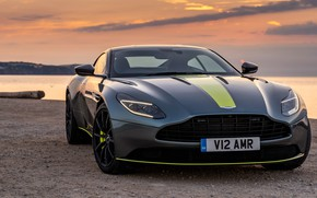 Picture sunset, Aston Martin, front view, 2018, DB11, AMR, Signature Edition